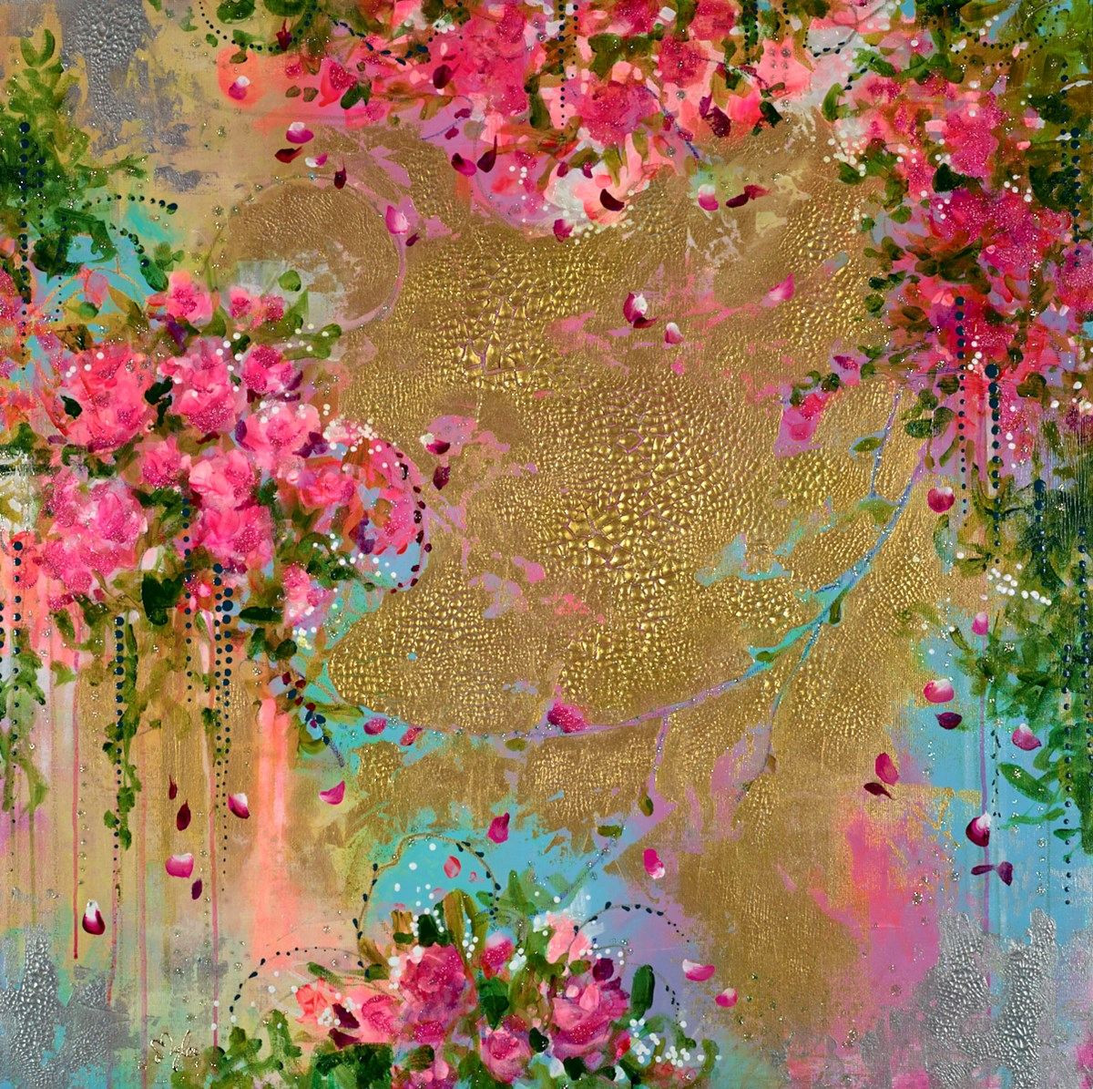 Loveliness by amylee paris -  sized 39x39 inches. Available from Whitewall Galleries